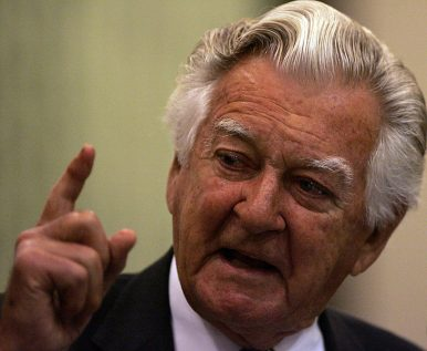 In India the young Bob Hawke lost his belief and found a new vision