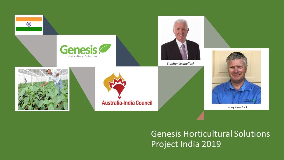 Horticulture & Hydroponics research mission from Australia to India