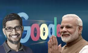 Google backing India as it becomes cautious onChina